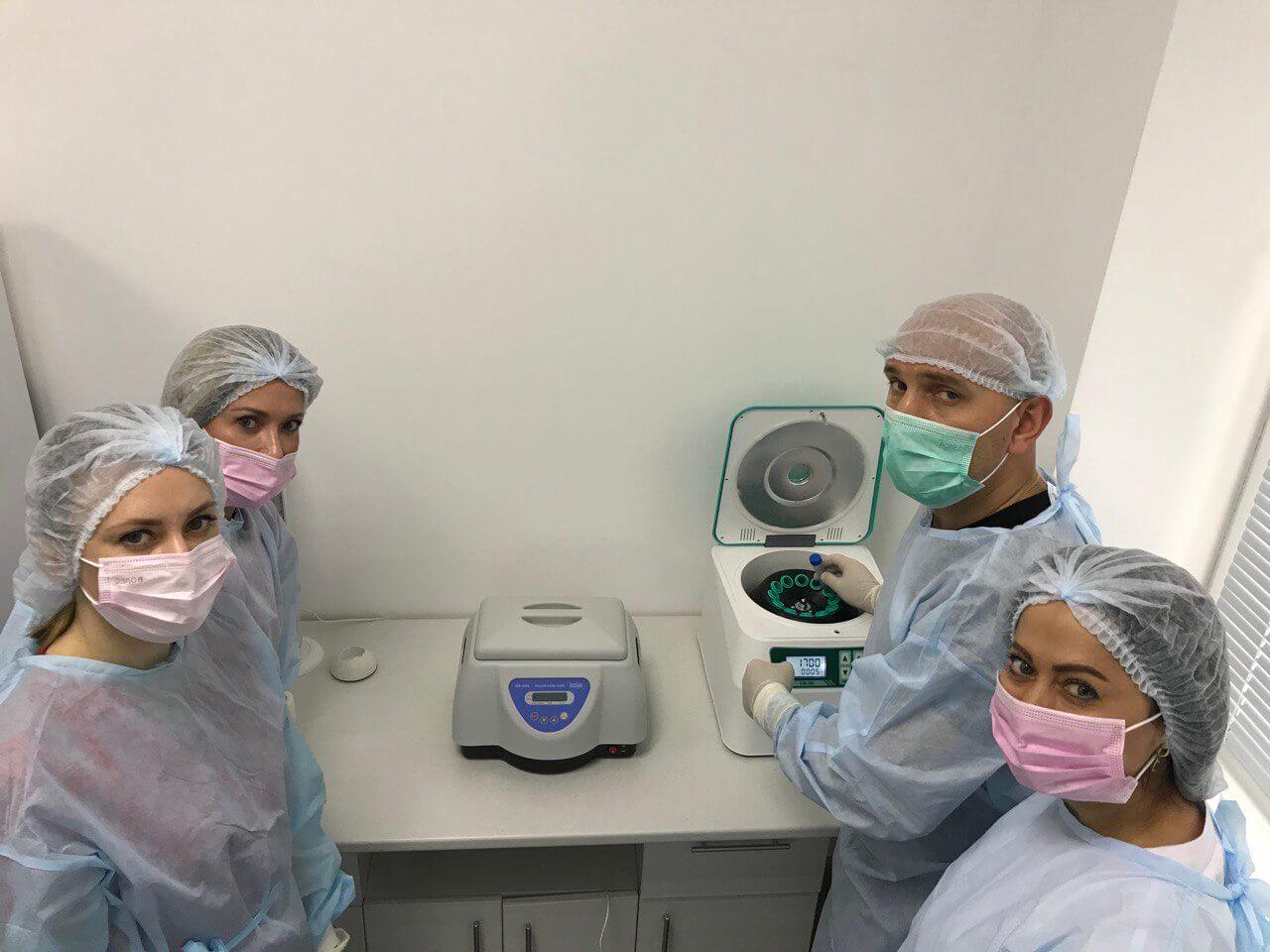 работа врачей со стволовими клетками Coolaser clinic Кеив