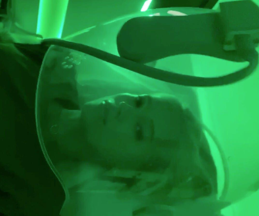 Поток кислорода на кожу