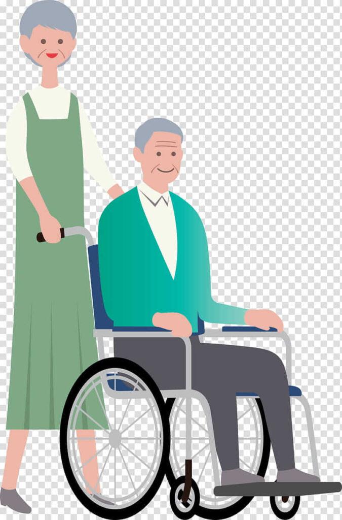 Картинка больного на инвалидной коляске