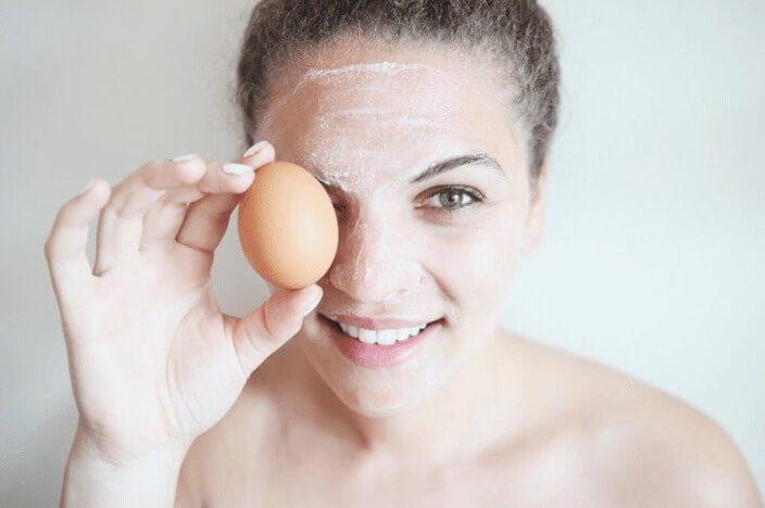 Маска из яиц фото