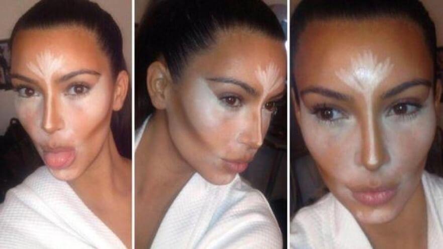 урок Мейкап Ким Кардашьян как уменьшить нос без операции в домашних условиях